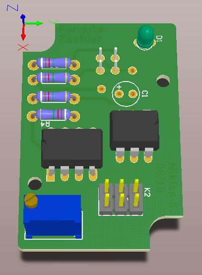 Stromzähler Front